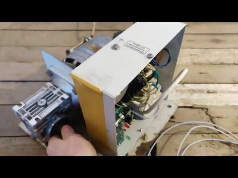 3 часть. Откатные ворота на двигателе от стиральной машины. Автоматика. Такова вы не видели.