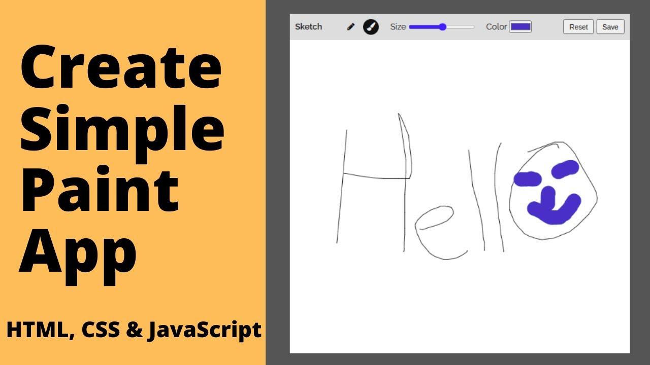 Build Simple Paint App using HTML, CSS & JavaScript | p5.js