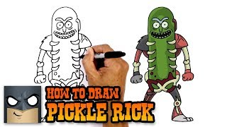 How to Draw Pickle Rick | Rick and Morty