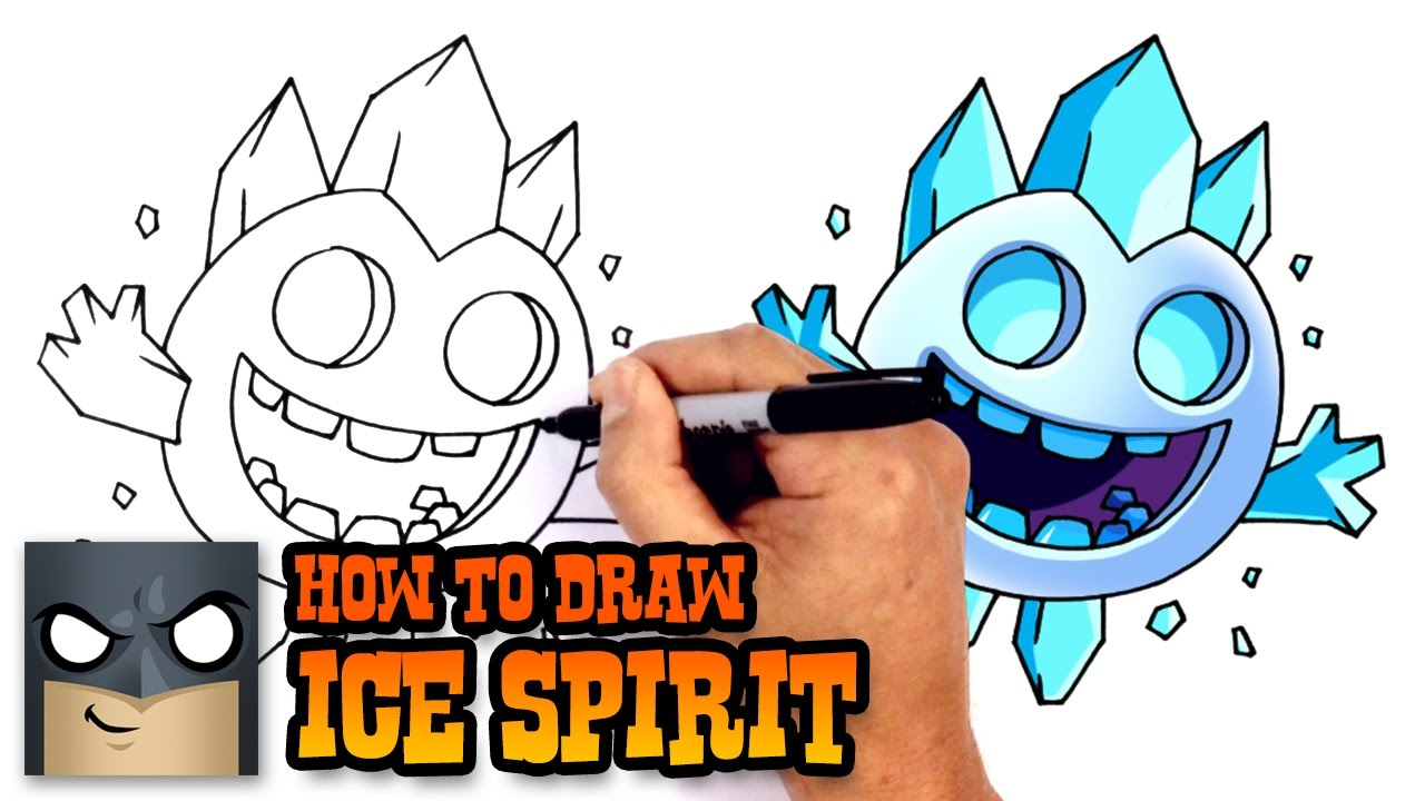 how to draw ice spirit clash royale youtube