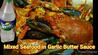 Mixed Seafood in Garlic Butter Sauce - Easy Recipe for beginners