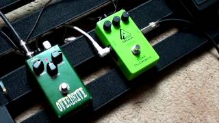 DeltaLab TO1 Overdrive vs Crossfire Overdrive Pedal