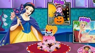 NEW Игры для детей 2015—Disney Принцесса Торт Белоснежки—Мультик Онлайн видео игры для девочек