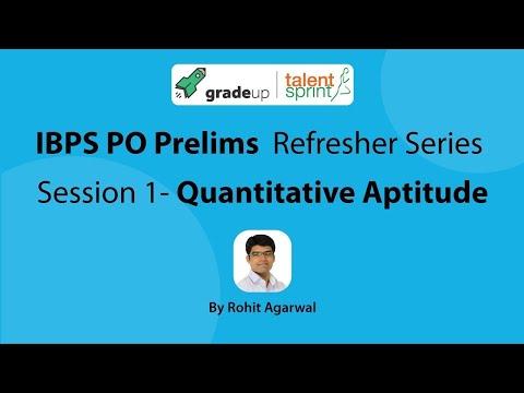 IBPS PO Prelims Exam 2017 Refresher Series - Quantitative Aptitude (Session 1) | Sep 18,2017@7.00PM