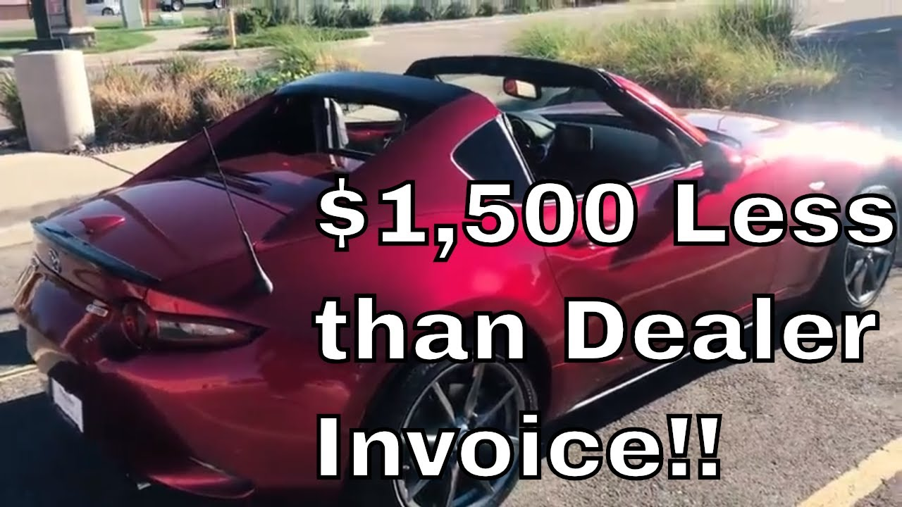 How To Buy A Mazda Miata Lower Than Dealer Invoice Price - Car buying strategies dealer invoice