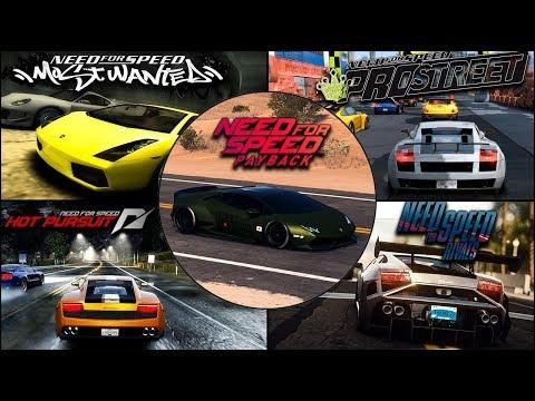 Lamborghini Gallardo/Huracan Evolution In NFS Games - 1080pHD
