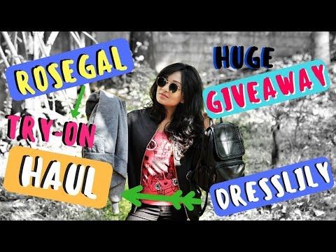 Huge Try-on haul | GIVEAWAY | Rosegal Christmas SALE | affordable online bangalore shopping