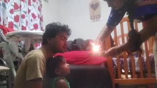 Diwali harathu for baby vishika and dad