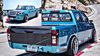 1.9 แปลงหน้าMU-X ล้อD1SF สีฟ้าน้ำทะเล ทีมงานเฟรน #รถซิ่งตามงบ