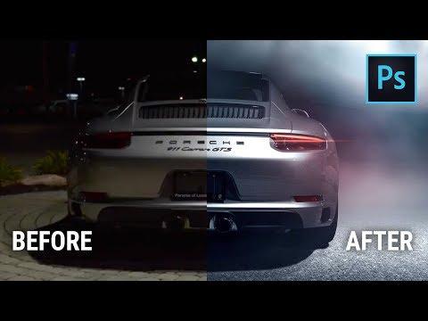 Car Photography Photoshop Composite Tutorial