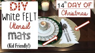 DIY Christmas Tree Utensil Mat (Family Project!) | 14th Day of Christmas 2015!
