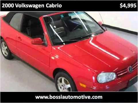 2000 Volkswagen Cabrio Used Cars Winchester MA