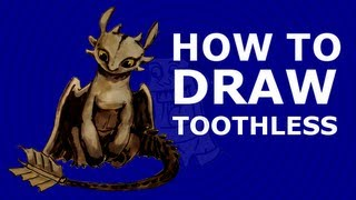 How to draw Toothless - How to train your dragon 2