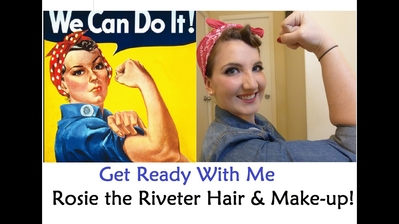 Get Ready With Me Rosie The Riveter Costume Hair Makeup All