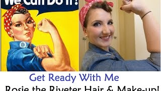 Get Ready With Me - Rosie the Riveter Costume Hair & Makeup! (All Natural Products) Thumbnail