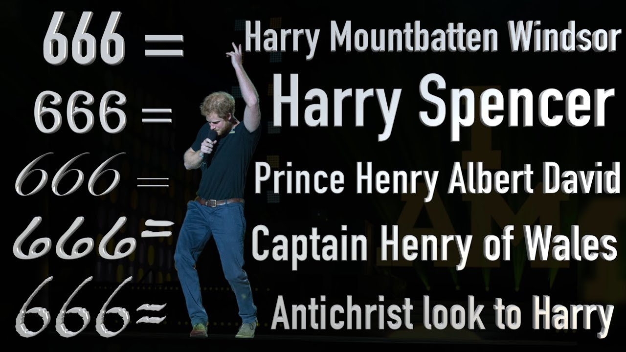 Prince Harry   5 Hebrew Names = 666   Habakkuk Prophecy