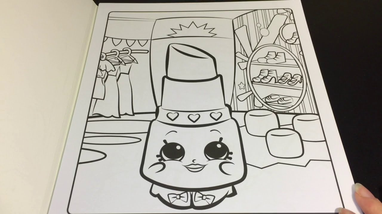 Coloring Time Episode 9 Shopkins Lippy Lips Speed Coloring Page With Markers
