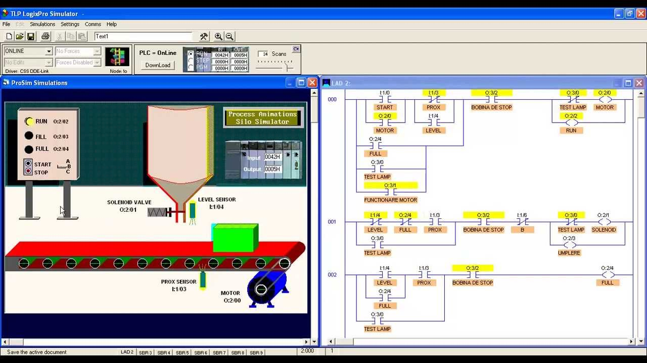 Logixpro Simulator -- Silo Simulator