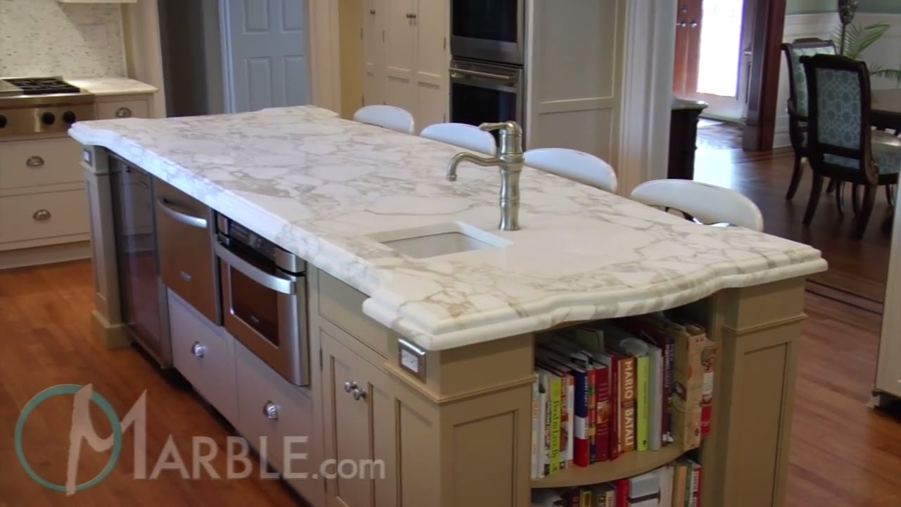 Calacatta Oro Marble Kitchen Countertops