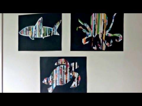 DIY WALL ART  MAGAZINE UPCYCLE 
