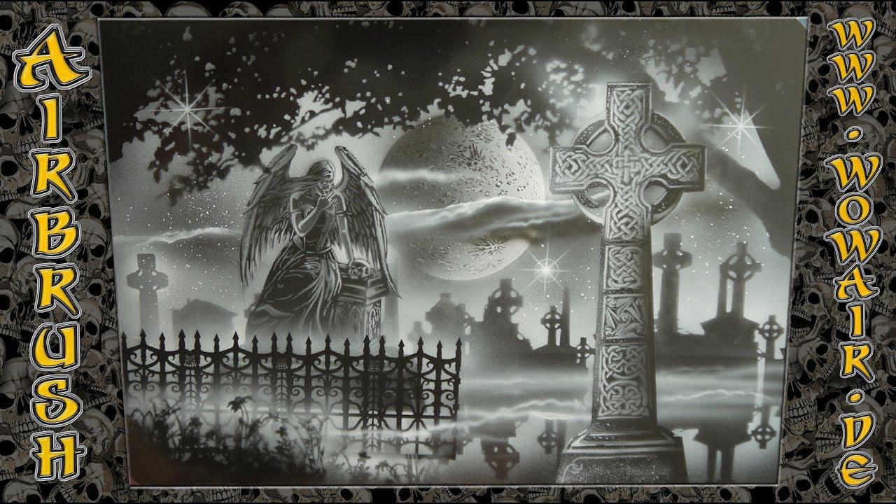 no333 airbrush by wow quot graveyard friedhof quot hdmp4