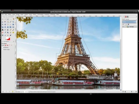Inpainting The Eiffel Tower With G'MIC
