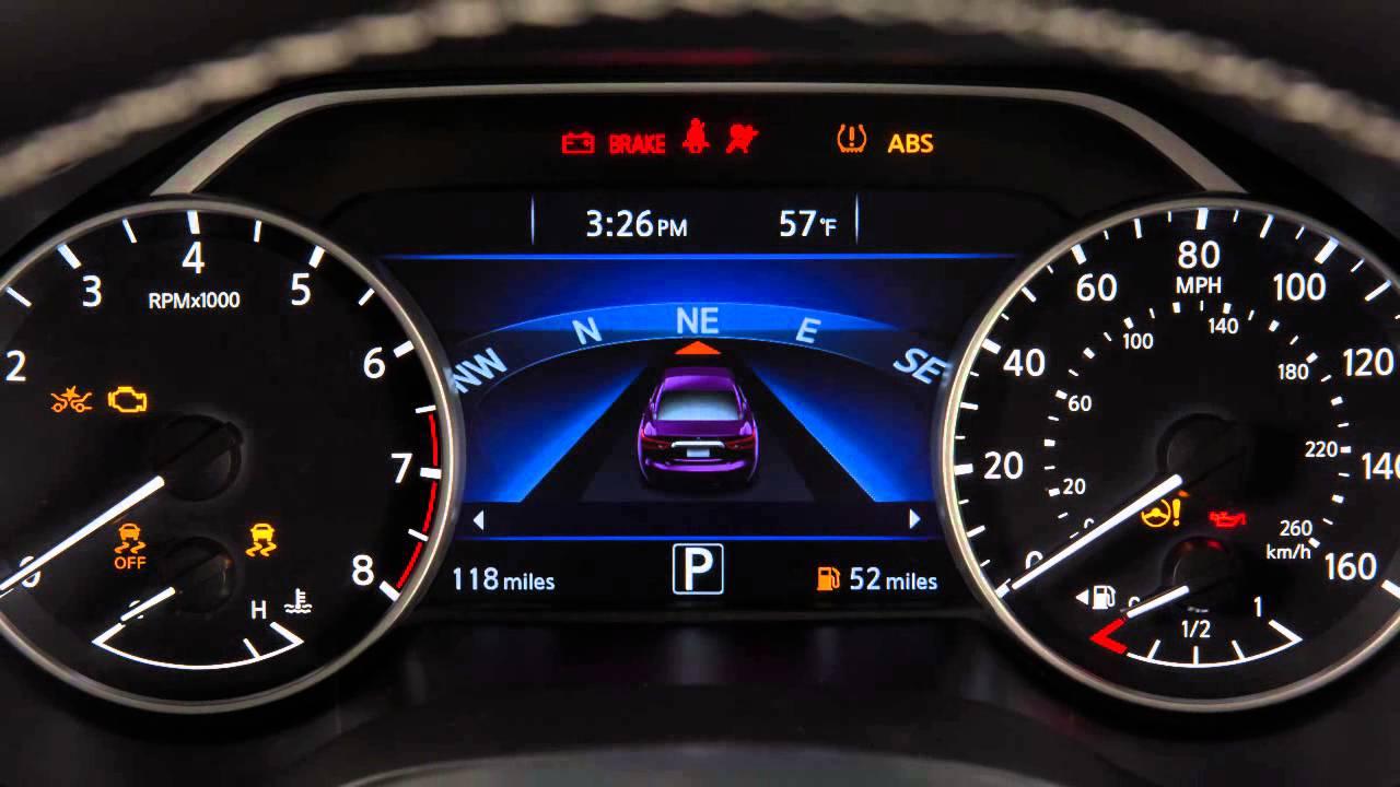 2016 Nissan Maxima  Warning and Indicator Lights  YouTube