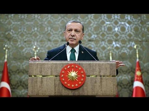 """Cumhurbaşkanı Erdoğan, """"UDEF 11. Uluslararası Öğrenci Buluşmalarının Final Programı""""nda konuşuyor."""