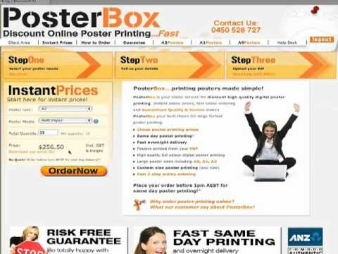 Ordering large format poster printing online with PosterBox