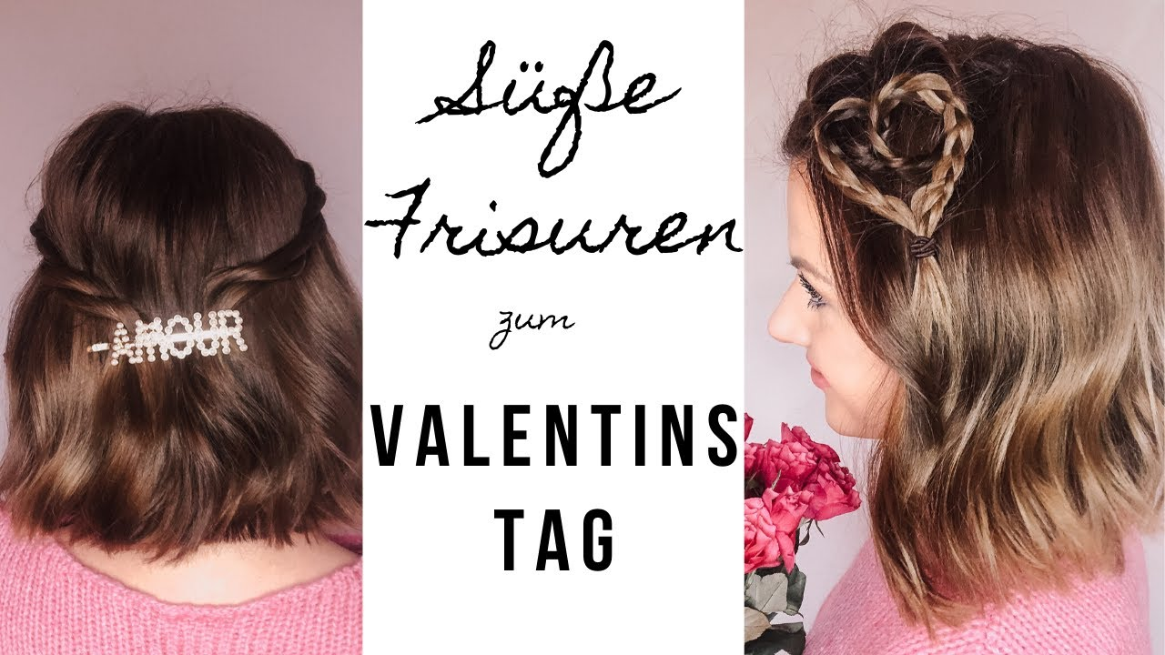 Süße Bob Frisuren zum Valentinstag l kurze Haare flechten