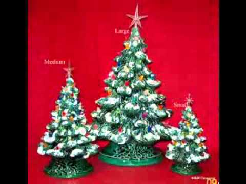 Ceramic Christmas Tree Decorating Ideas