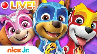 🔴LIVE: PAW Patrol Mighty Pups Charged Up ⚡️Entire Series! | Nick Jr.