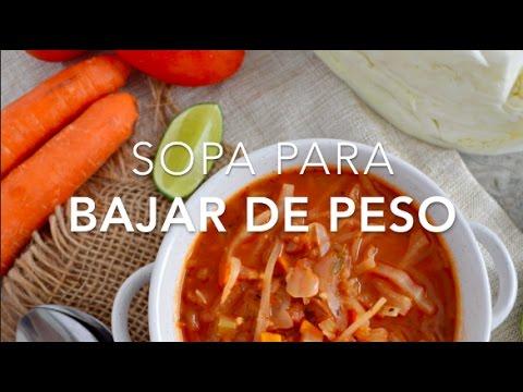 recetas de sopa para bajar de peso