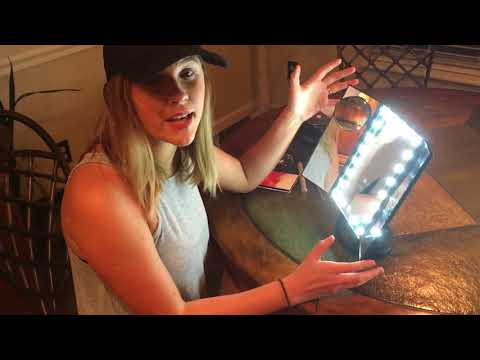 Asani Tri-Fold Lighted Magnification Makeup Mirror