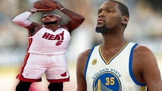 Repeat youtube video Can Miami Heat LeBron James Beat Kevin Durant in a 3 Point Contest? - NBA 2K17 Challenge