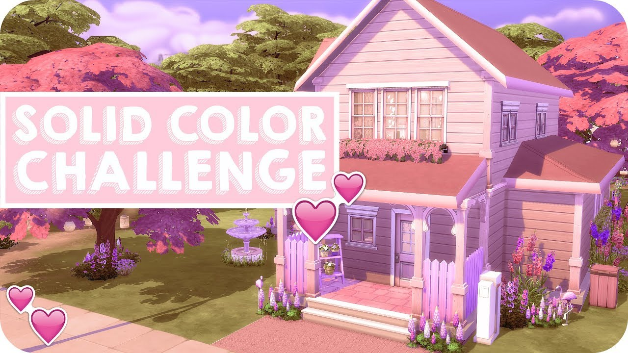 SOLID COLOUR BUILD CHALLENGE | Sims 4 House Building - YouTube