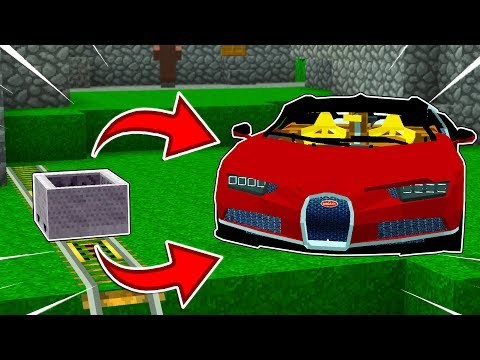 HOW TO MAKE SUPERCARS IN MINECRAFT!?... (*EXTREMELY FAST*)
