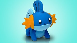 POKÉMON MUDKIP made from clay, sculpture timelapse  How to sclupt Pokemon figurines #shorts