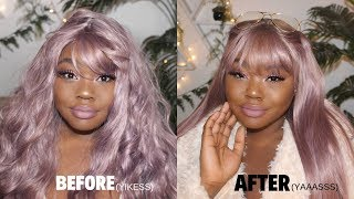 WATCH ME TRANSFORM A $7 CHEAP SYNTHETIC WIG from WISH (SYNTHETIC WIG HACKS)