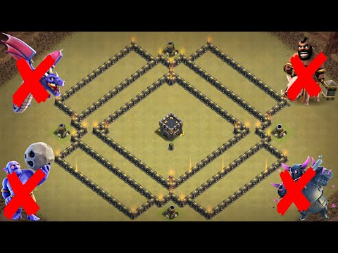 New Best TH8 War Base 2018 | Defense against GoBoPe, Mass Hog Riders, Mass Dragons | Clash of Clans