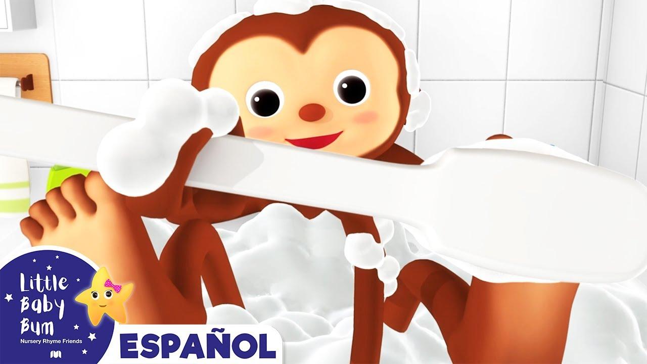 El Monito en la Bano | Cuentos de Little Baby Bum Español | +Más Canciones | Dibujos Animados