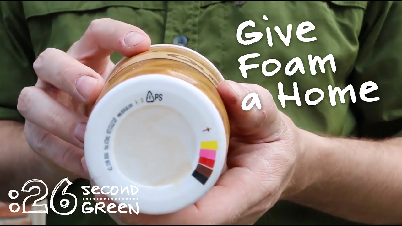 How to Recycle Polystyrene Foam | 26 Second Green