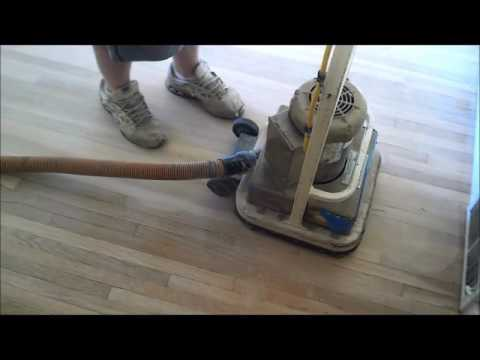 Full sanding and refinishing of a hardwood floor step by step