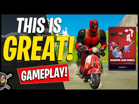 DEADPOOL GEAR BUNDLE! Gameplay + DEADPOOL Skin Unlock! Before You Buy (Fortnite Battle Royale)