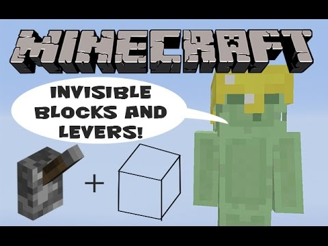 Minecraft Tutorial: Invisible Blocks And Levers!
