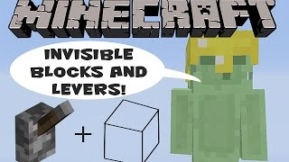 Minecraft Xbox 360 Tutorial: Invisible Blocks and Levers!