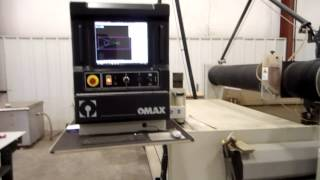 OMAX MODEL 80X/5060 CNC WATER JET CUTTING SYSTEM, 50 HP, 60,000 PSI, NEW 2012