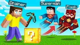 Open LUCKY BLOCKS = SPAWN SUPERHEROES In MINECRAFT!