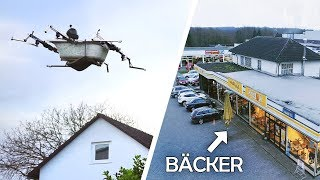 FLYING SHOPPING on our HUMAN DRONE! | Flying Bathtub #4