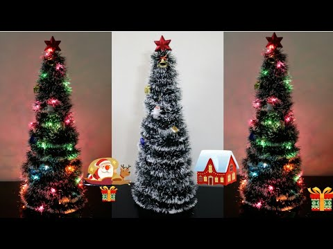 Christmas Tree Making/ Quick, Clean and Easy Christmas tree/Christmas Tree Decoration ideas